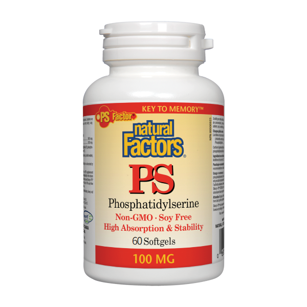 Natural Factors PS Phosphatidylserine 100 mg - 60 Softgels