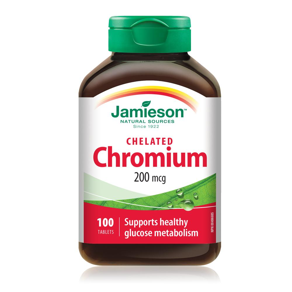 Jamieson Chelated Chromium 200MCG - 100 Tablets