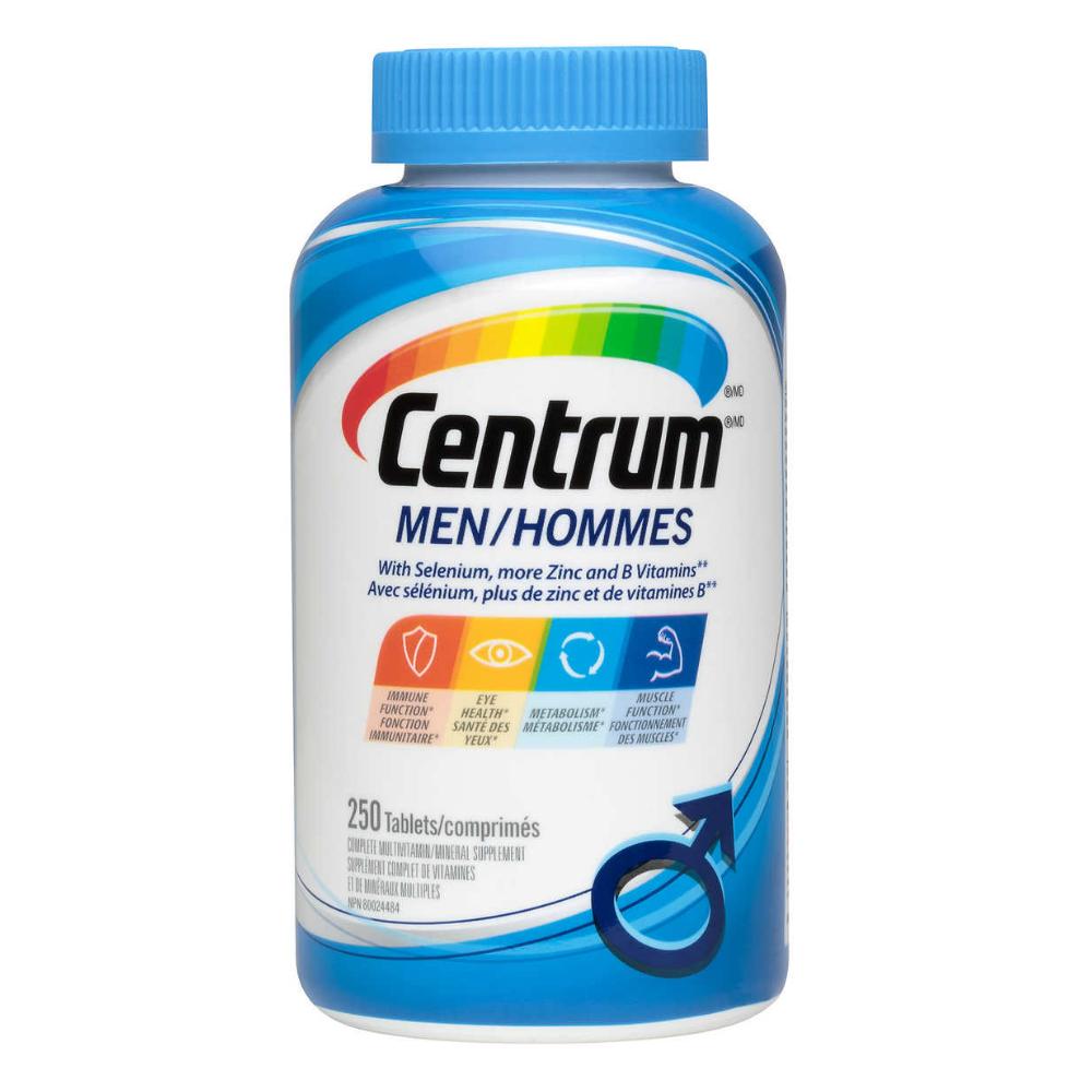 Centrum Men Multivitamin 250 Tablets