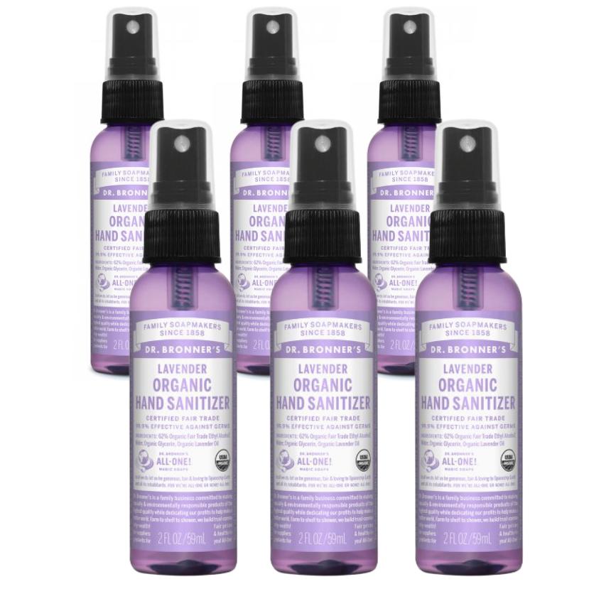 Dr. Bronner's Organic Hand Sanitizer - 59 mL Lavender