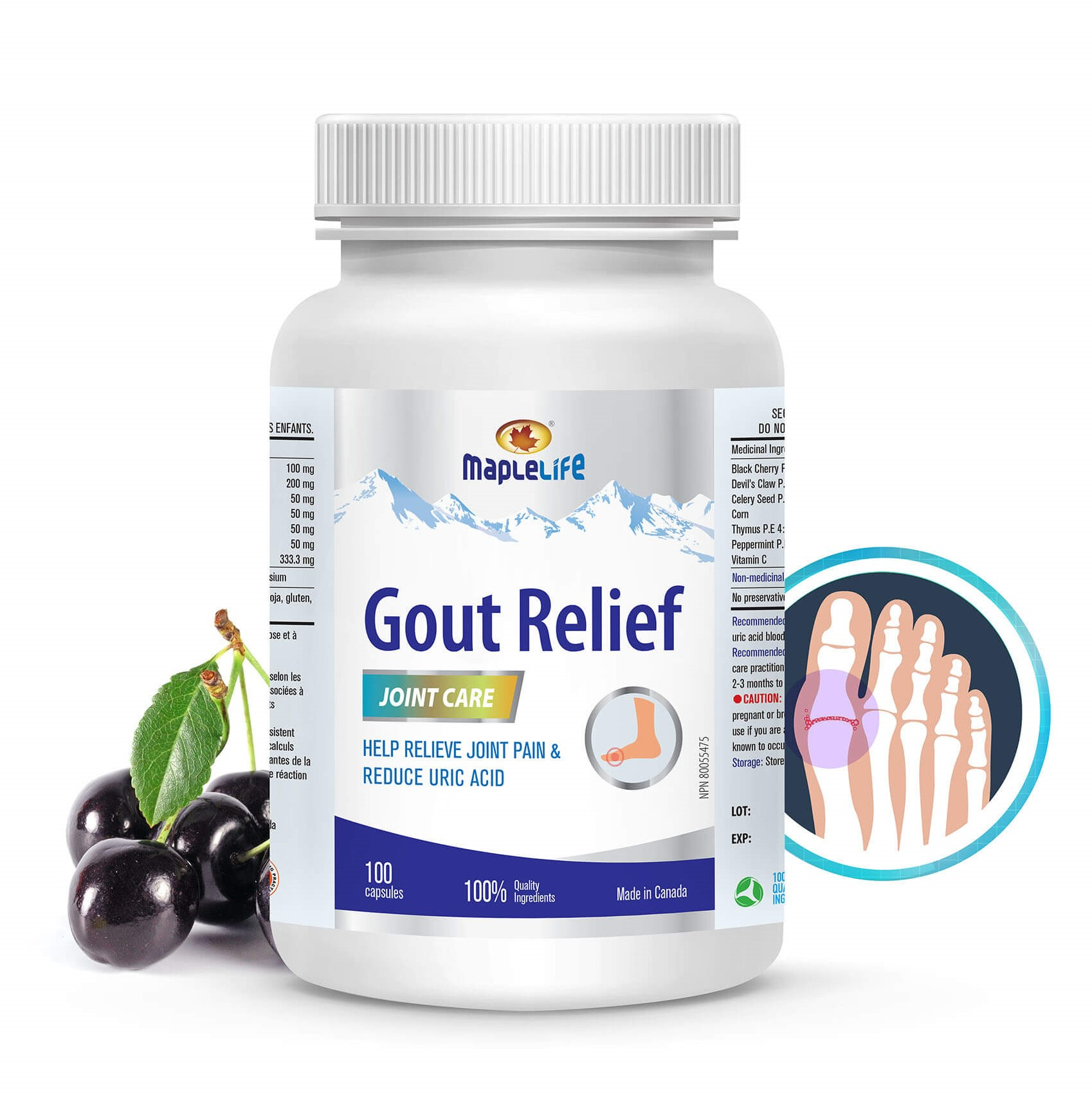 Maple Life Gout Relief Joint Care 100capsules