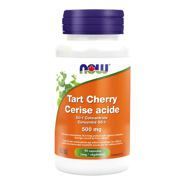NOW Foods Tart Cherry 50:1 Concentrate 500mg 90capsules