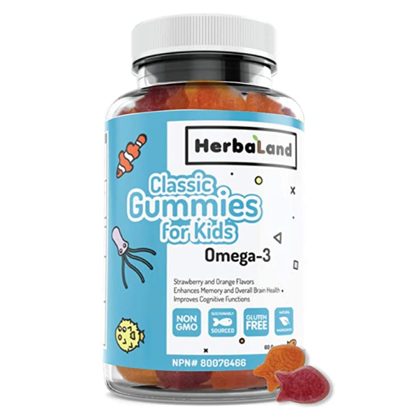HerbaLand Classic Gummies For Kids Omega 3 - 60 Gummies