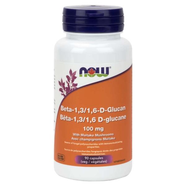 NOW Foods Beta-1,3/1,6-D-Glucan 100 mg 90 Veg Capsules