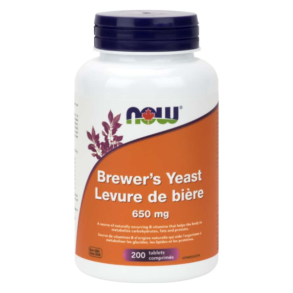 NOW Foods Brewer's Yeast 650mg 200 tablets