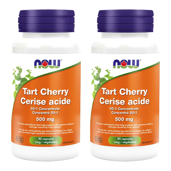 NOW Foods Tart Cherry 50:1 Concentrate 500mg 90capsules 2PACK