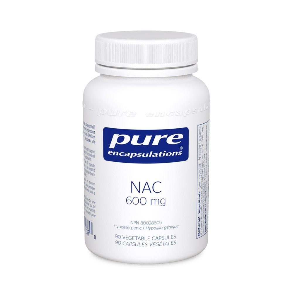 Pure encapsulations NAC (N-ACETYL-L-CYSTEINE) 600 MG - 90 CAPSULES