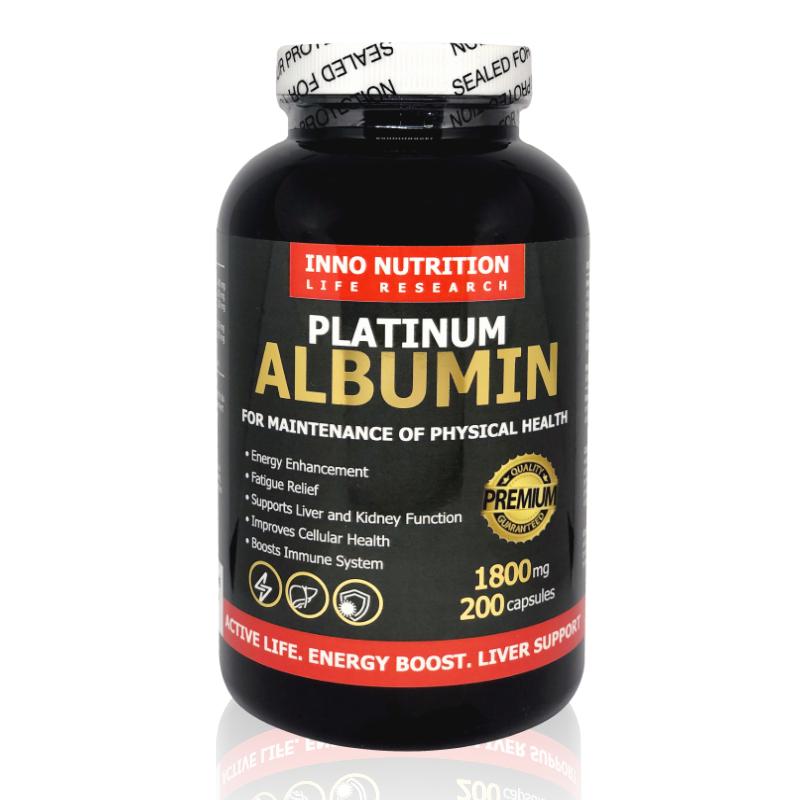 INNO NUTRITION Platinum Albumin 1800mg 200capsules