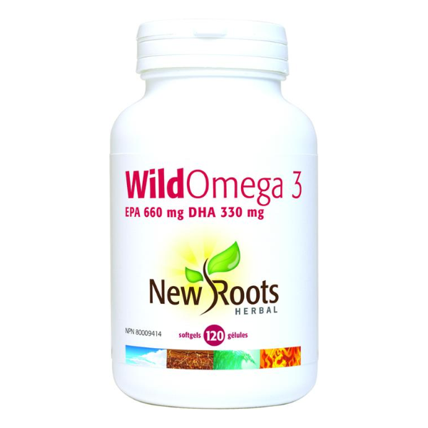 New Roots Wild Omega 3 EPA 660 mg DHA 330 mg - 120 softgels