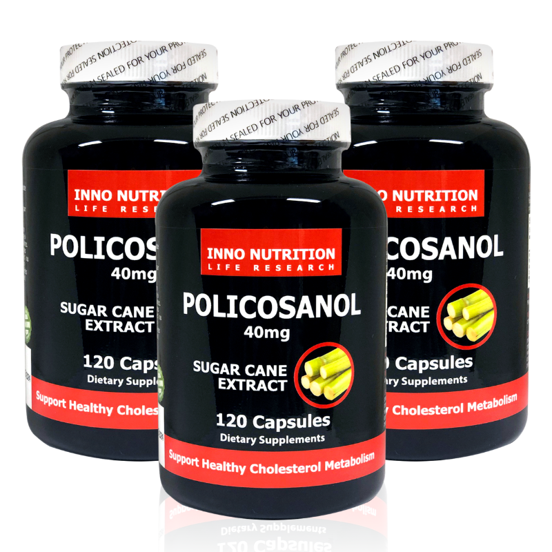 INNO NUTRITION Cuban Policosanol 40mg 120 capsules 3PACK