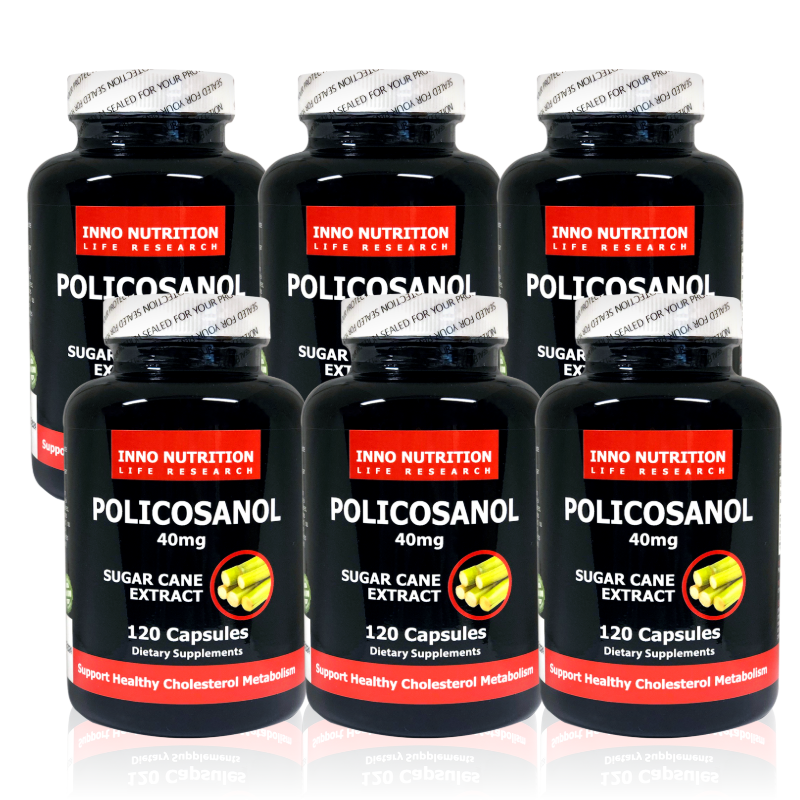 INNO NUTRITION Cuban Policosanol 40mg 120 capsules 6PACK