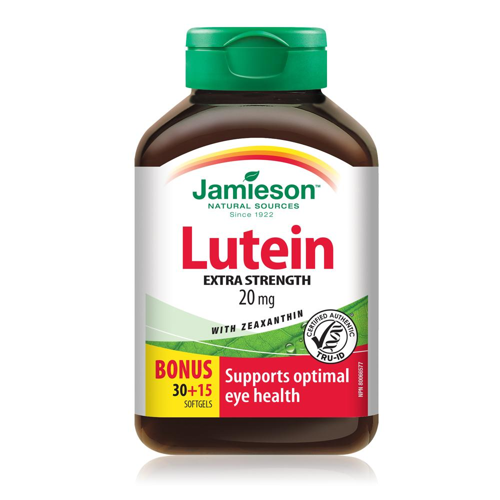 Jamieson Lutein Extra Strength with Zeaxanthin 20MG - 30 + 15 Free Bonus Softgels