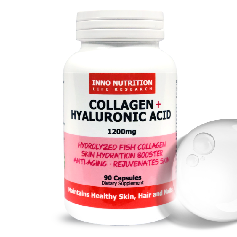 INNO NUTRITION Collagen + Hyaluronic Acid 1200mg 90 Caps