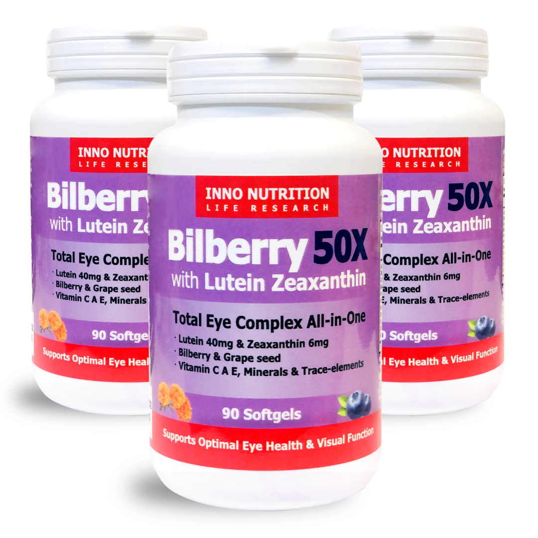 INNO NUTRITION Bilberry 50X with Lutein Zeaxanthin 90 SG 3PACK