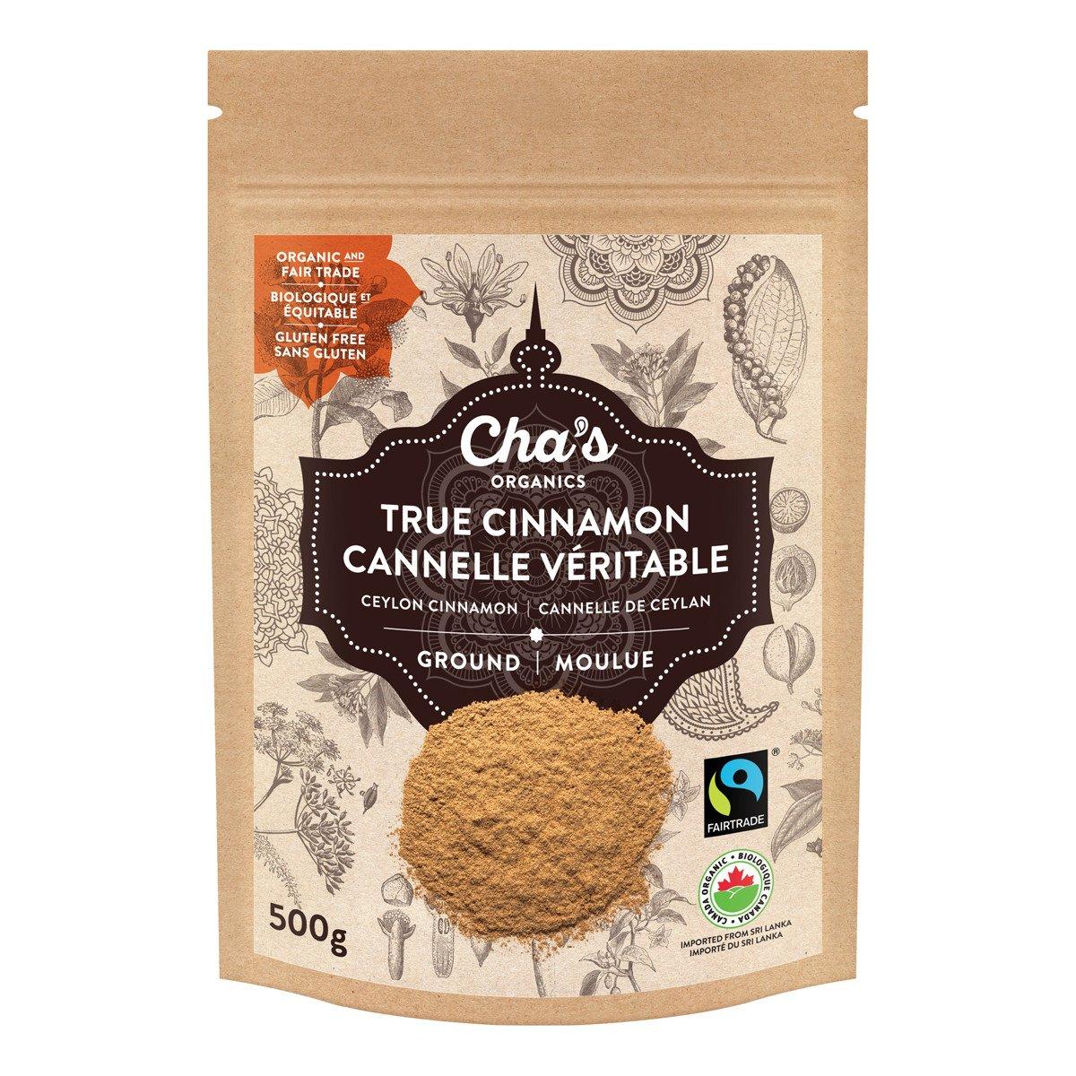 Cha's Organics Cinnamon (True / Ceylon) Ground 500g