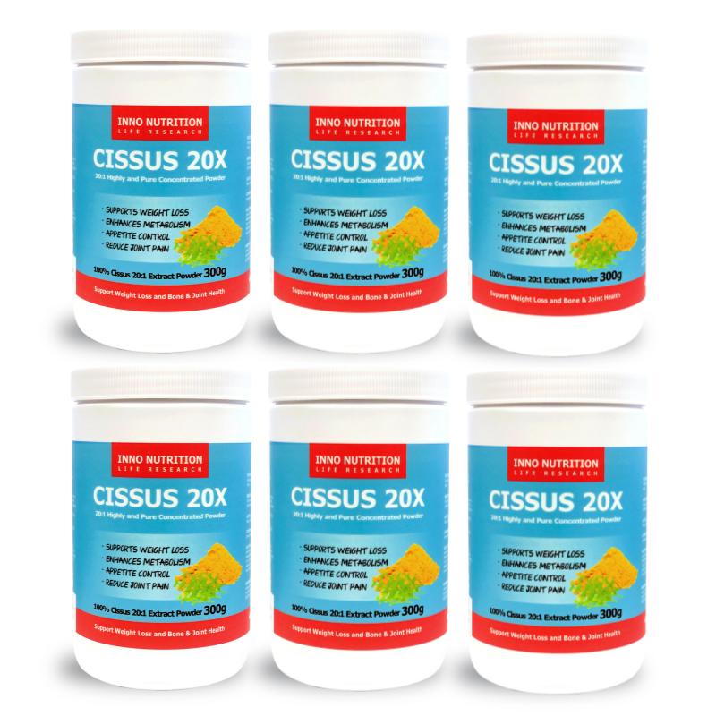 INNO NUTRITION CISSUS 20X 300g 20:1 Cissus Extract Powder 6 Pack
