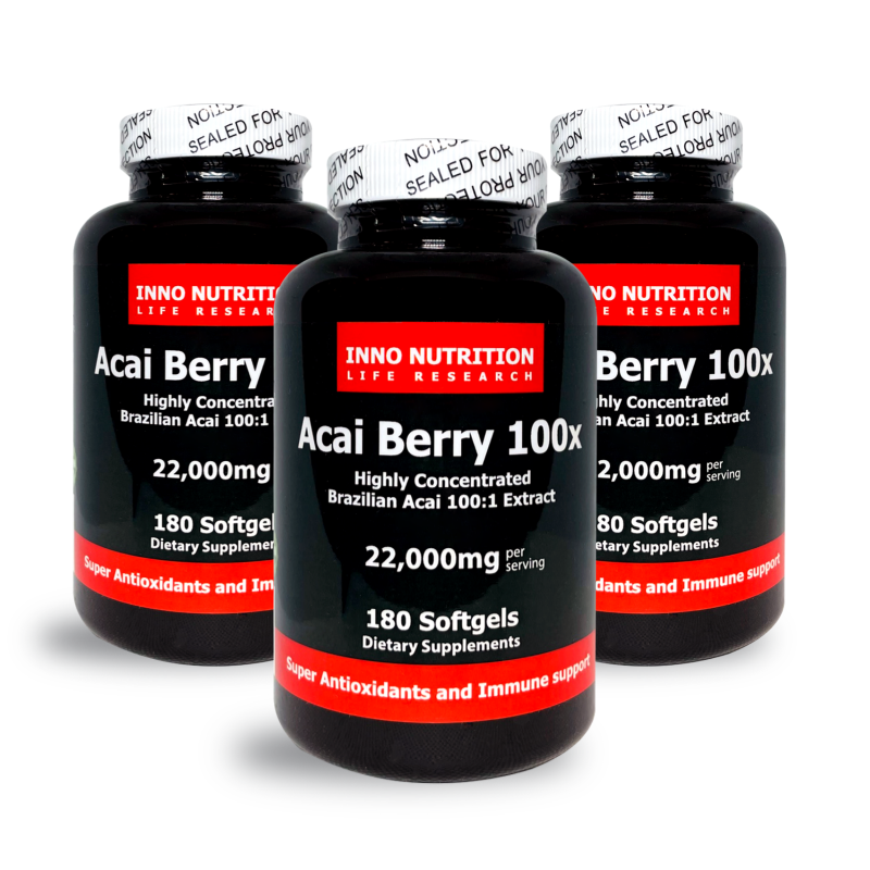INNO NUTRITION Acai Berry 100X 180 Softgels 3PACK