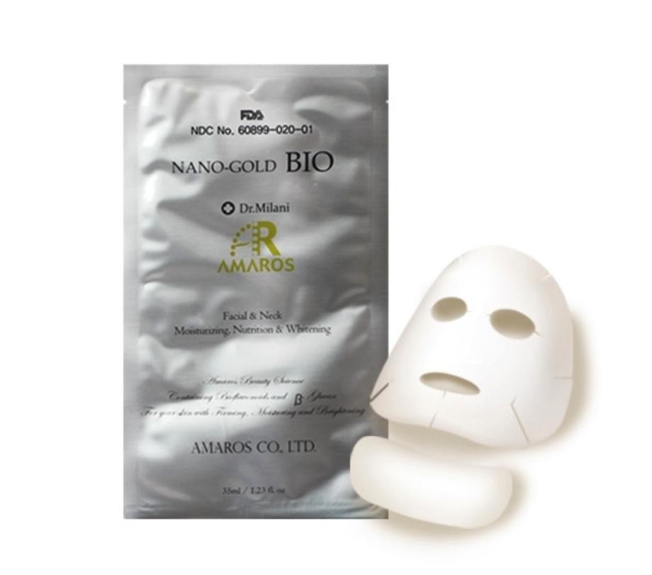 Amaros Nano-gold BIOSheet 5 Mask Pack (Face&Neck) 35g x 5