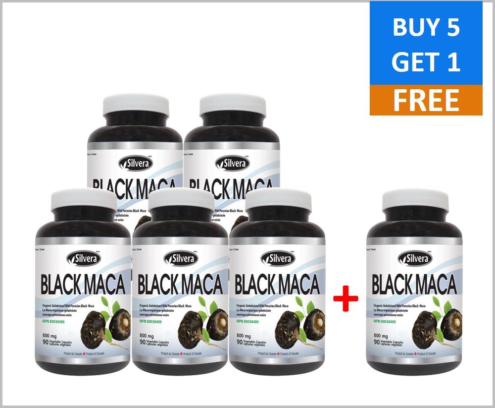 SPECIAL_Silver21 Black Maca 800 mg 90 Veggie Caps (6PACK)