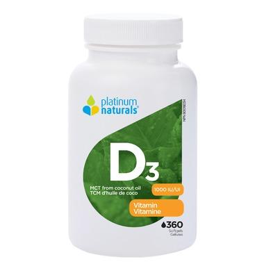 플래티넘 비타민 D3 360 소프트정