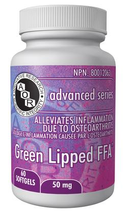 AOR Green Lipped FFA 50mg 60 Softgels