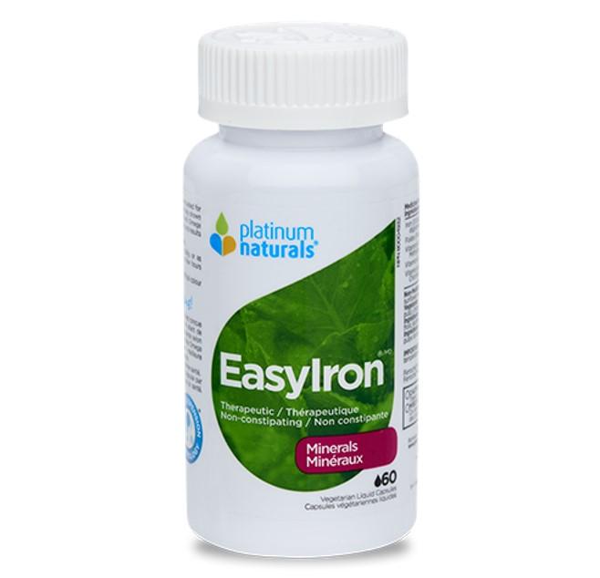Platinum Naturals EasyIron 60 Liquid Veggie Capsules
