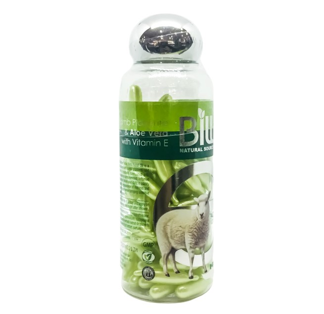 Bill Natural Lamb Placenta & Aloe Vera with Vitamin E 100 Caps