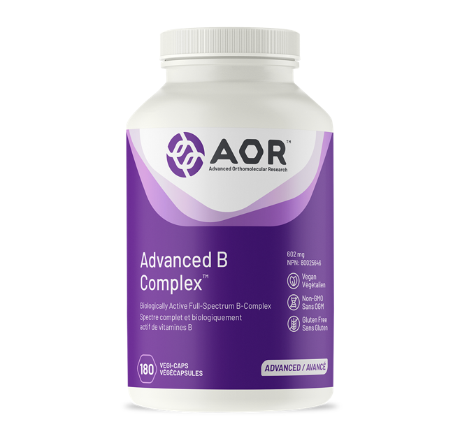 AOR Advanced B Complex, 602mg 180 Veggie Capsules