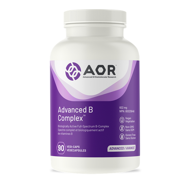 AOR Advanced B Complex (Vitamin B) 602mg 90 Veggie Capsules