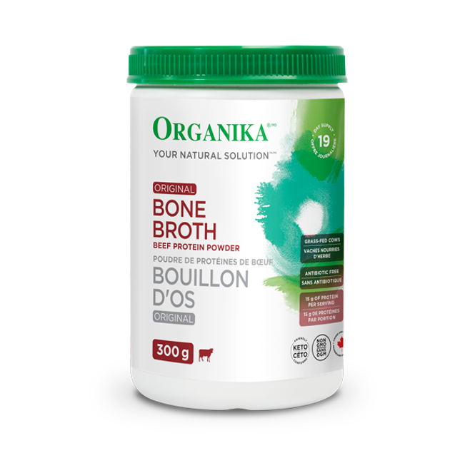 Organika Bone Broth Beef Original Protein Powder 300g