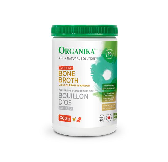 Organika Bone Broth Chicken Protein Powder - Turmeric 300g