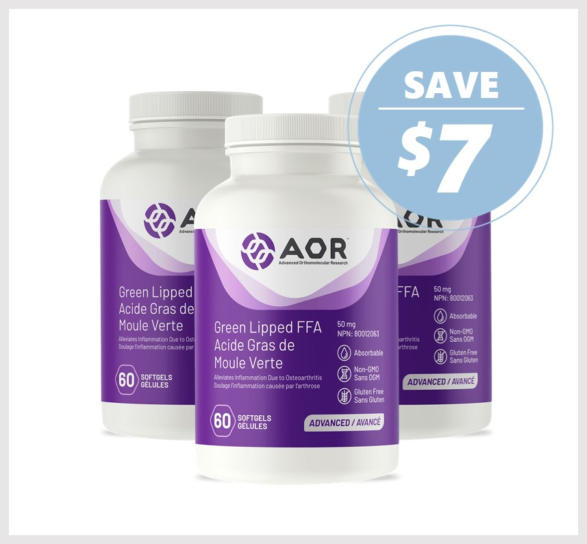 AOR Green Lipped FFA 50mg 60 Softgels * 3 Packs