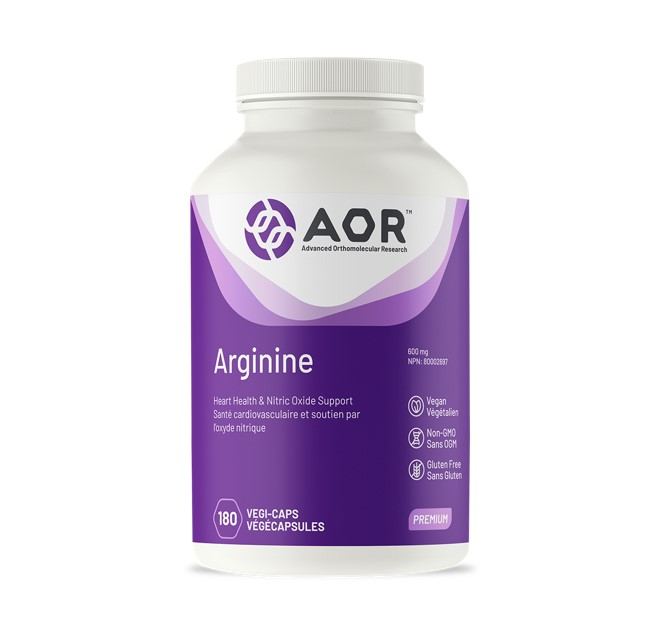 AOR Arginine 600mg 180 Veggie Caps