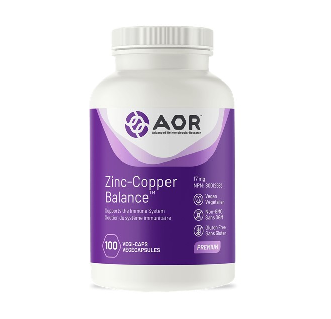 AOR Zinc-Copper Balance™ 100 Veggie Caps