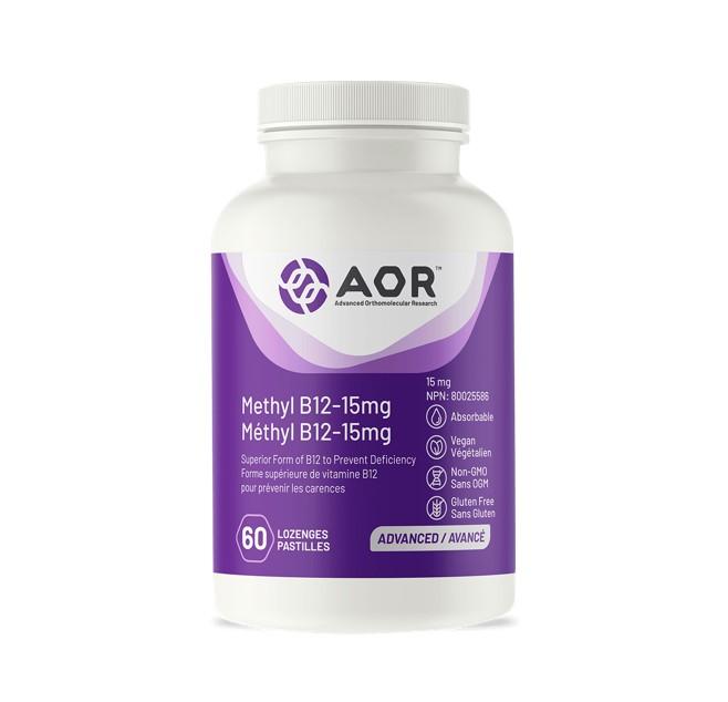 AOR Methyl B12 – 15 mg 60 Lozenges