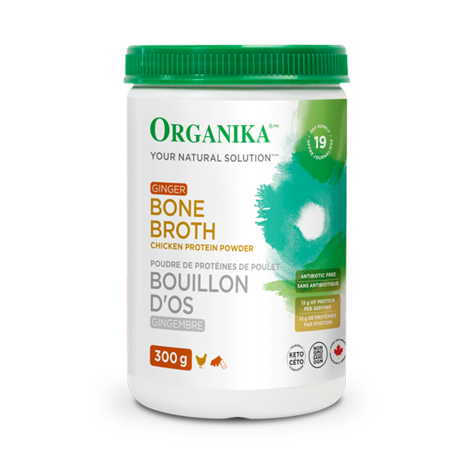 Organika Bone Broth Chicken Ginger 300g