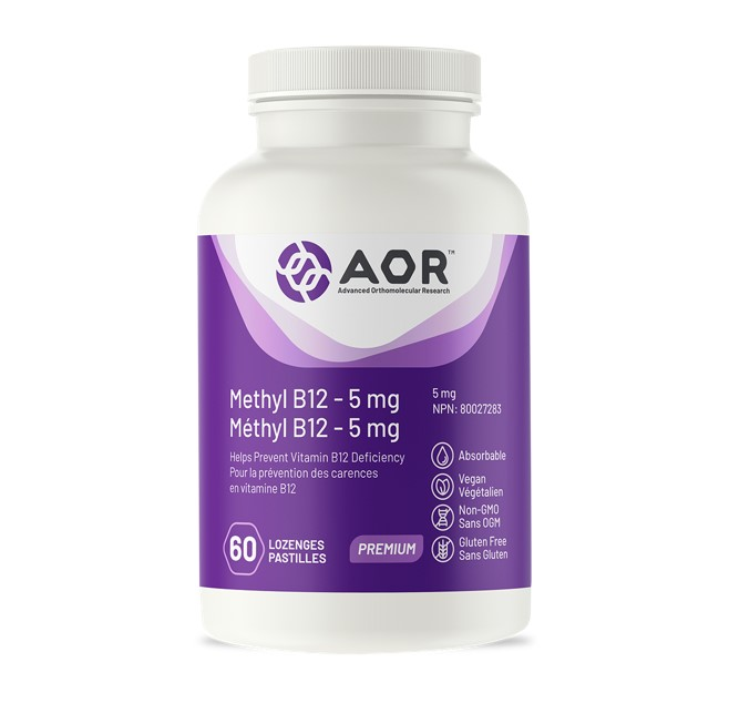 AOR Methyl B12 - 5mg 60 Lozenges