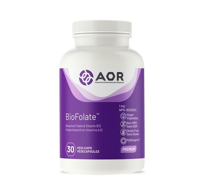 AOR BioFolate 30 Veggie Caps