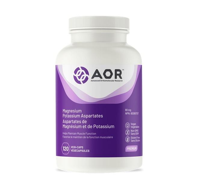 AOR Magnesium Potassium Aspartate 120 Veggie Caps