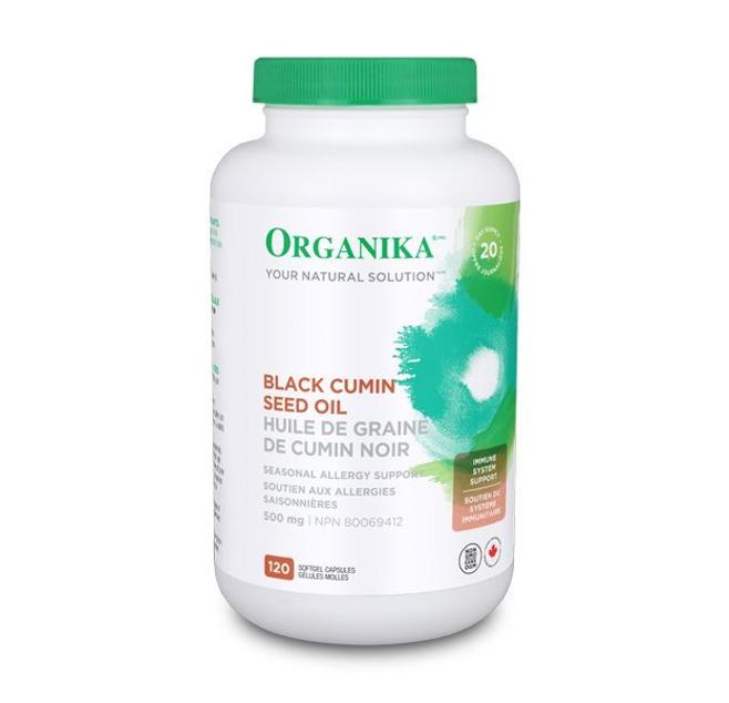 Organika Black Cumin Seed Oli 500mg 120 Softgel