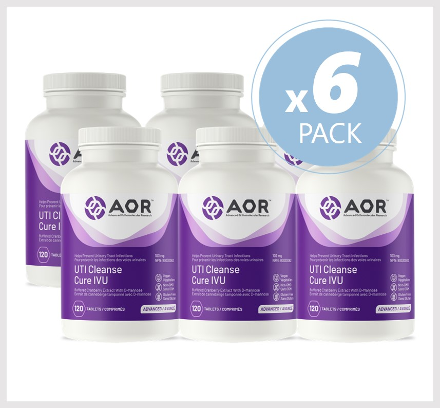 AOR UTI Cleanse 120 Tablets 6 PACK