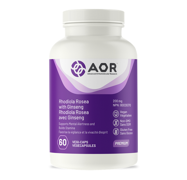 AOR Rhodiola Rosea with Ginseng 60 Capsules