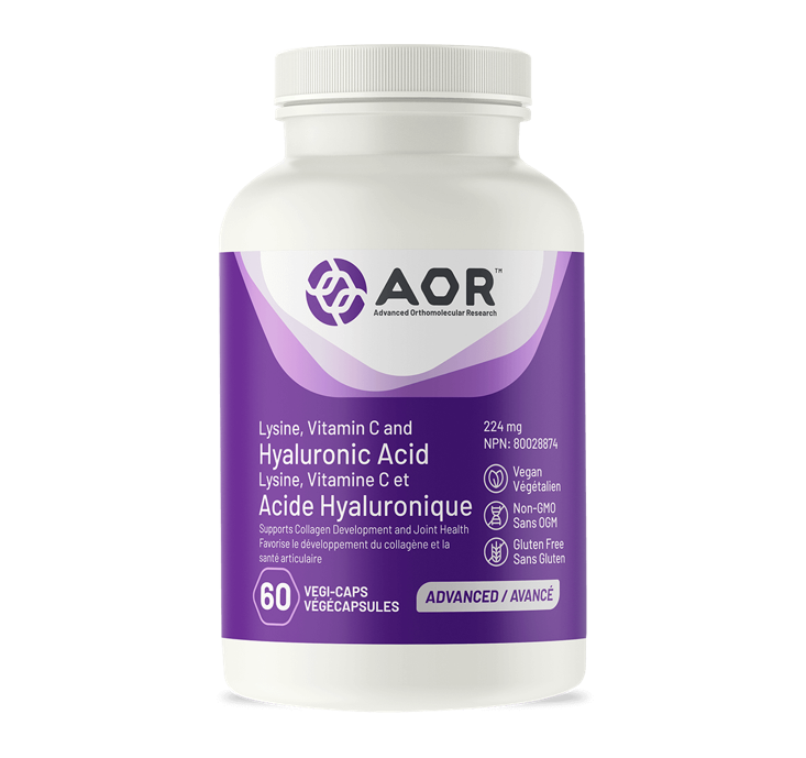 AOR Lysine, Vitamin C and Hyaluronic Acid 60 Capsules