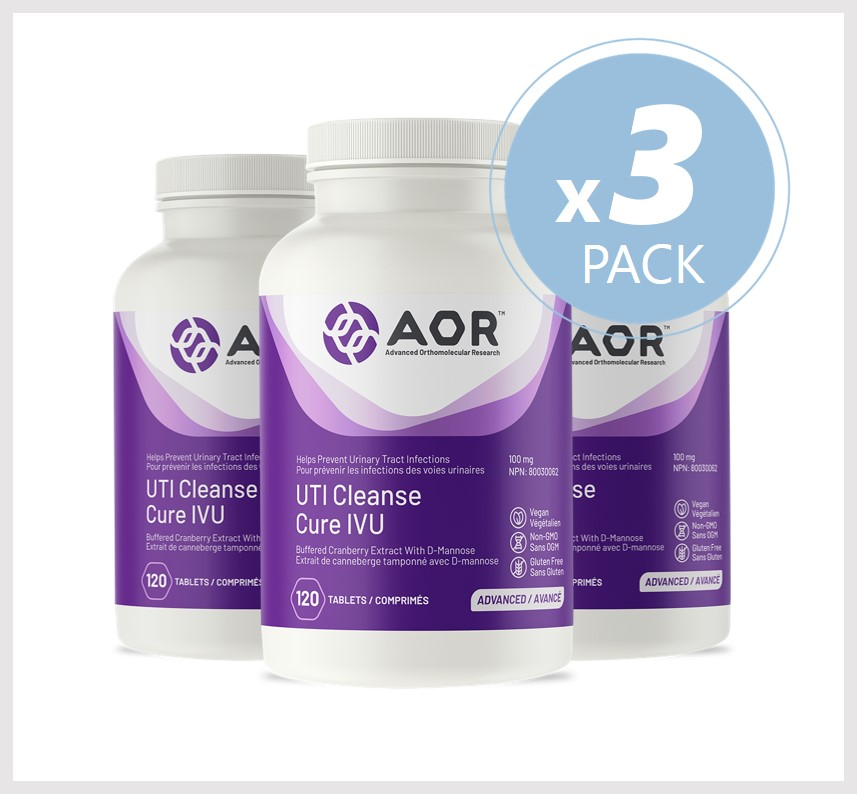 AOR UTI Cleanse 120 Tablets 3 PACK