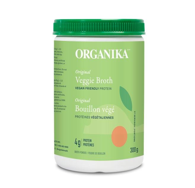 Organika Veggie Broth - Vegan Friendly Protein Powder Original 300g