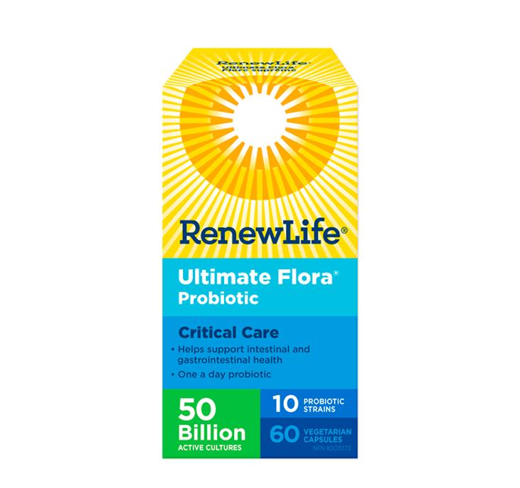 Renew Life Ultimate Flora® Critical Care 50 Billion Active Cultures 60 Veggie Capsules