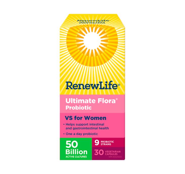 Renew Life Ultimate Flora Women's Vaginal Probiotics 50 Billion 30 Veggie Capsules