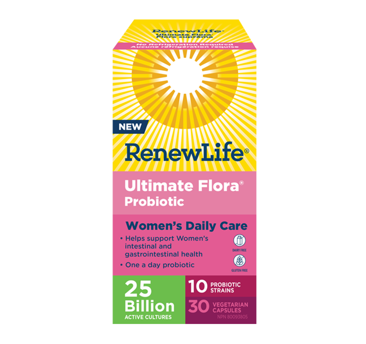 Renew Life Ultimate Flora® Daily Women's Care 25 Billion Active Cultures 30 Veggie Capsules