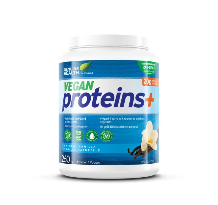 Genuine Health Vegan Proteins + Vanilla Powder 260g
