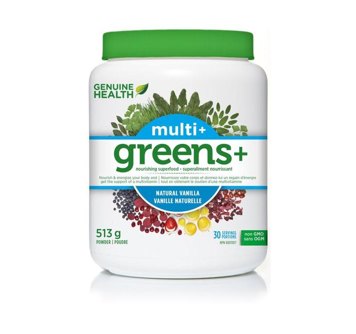 Genuine Health Greens + Multi Plus Vanilla Powder 513g